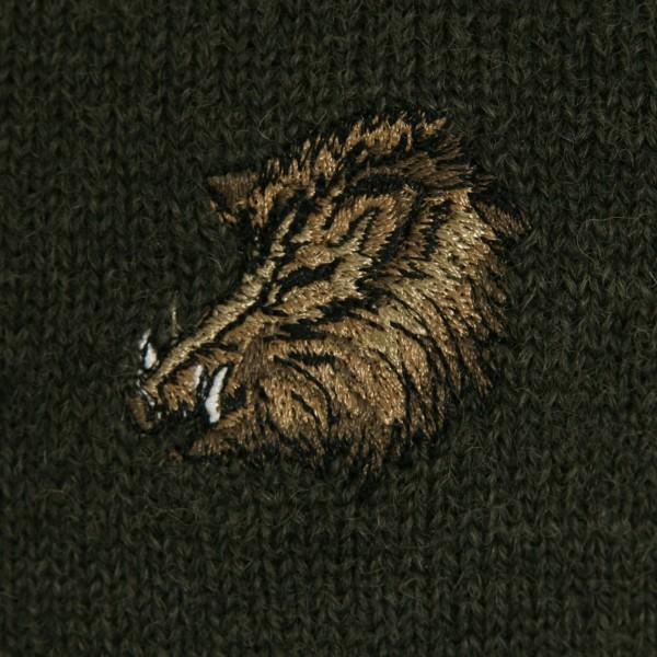Jagdpullover mit feiner Stickerei