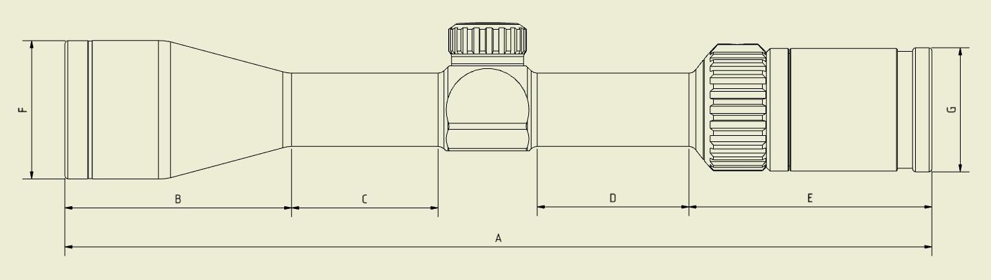 Abmessungen ZE5.2 1-5x24